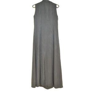 J Peterman Dresses - J Peterman Co. dress SZ 8 black 100% silk button f
